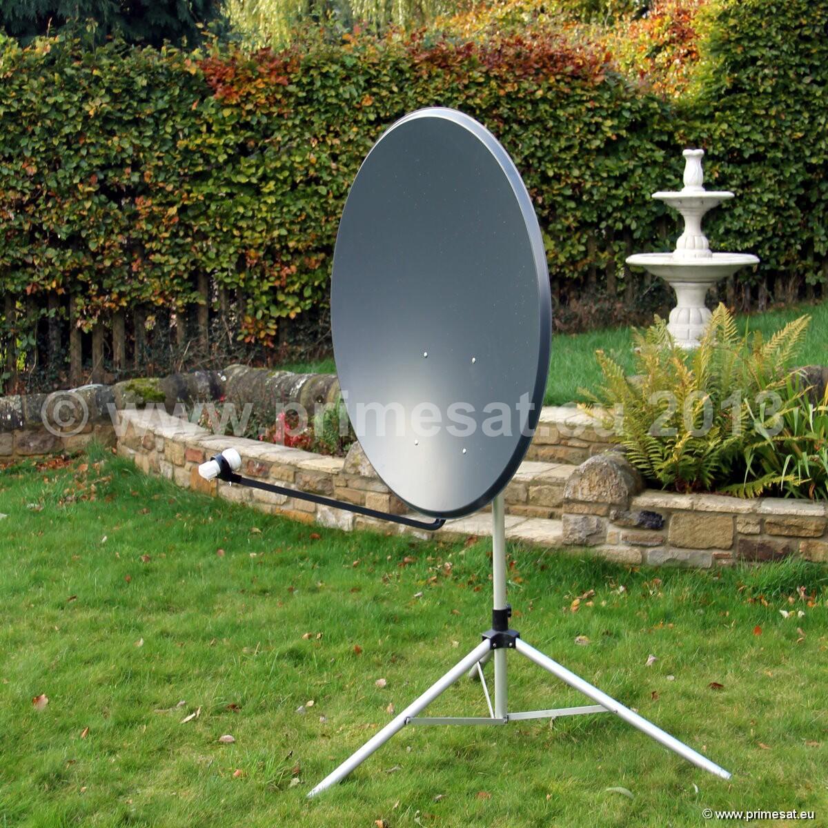 primesat aluminium 1 0m 1 1m and 1 3m satellite dish 110cm